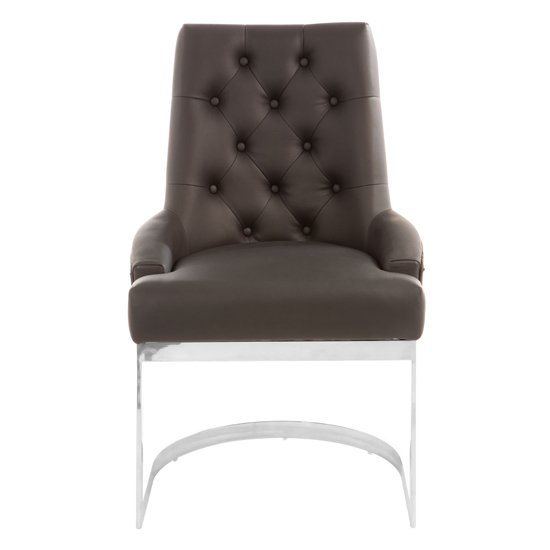 Azaltro Faux Leather Dining Chair In Black