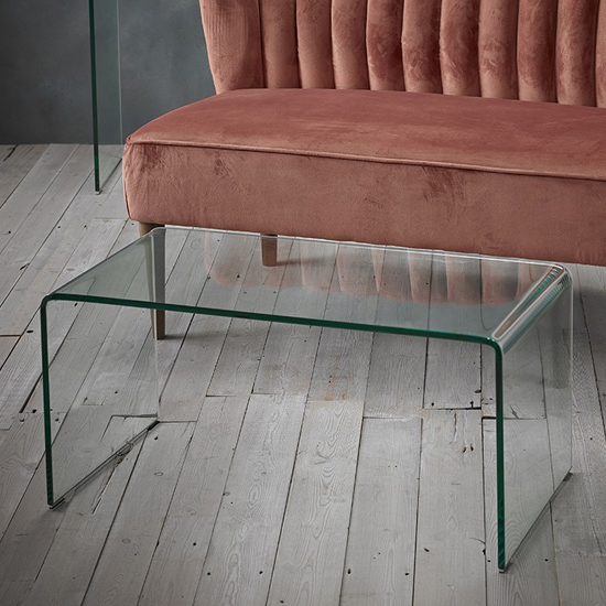 Azuria Clear Glass Finish Console Table_2