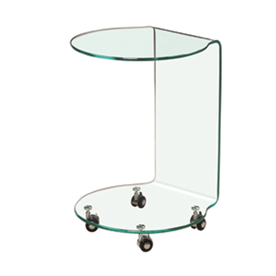 Azurro Contemporary Glass Lamp Table