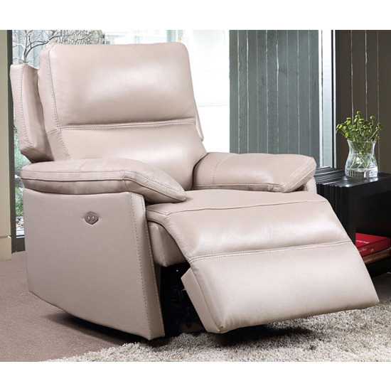 Bailey Faux Leather Armchair In Taupe