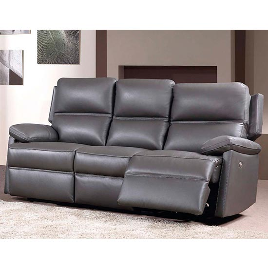 3 Seater Electric Recliner Sofa In Grey