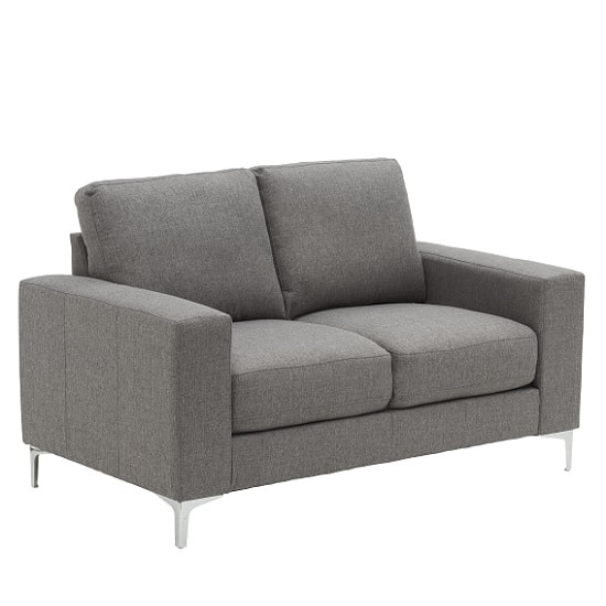 Bailey Modern 2 Seater Sofa In Grey Fabric