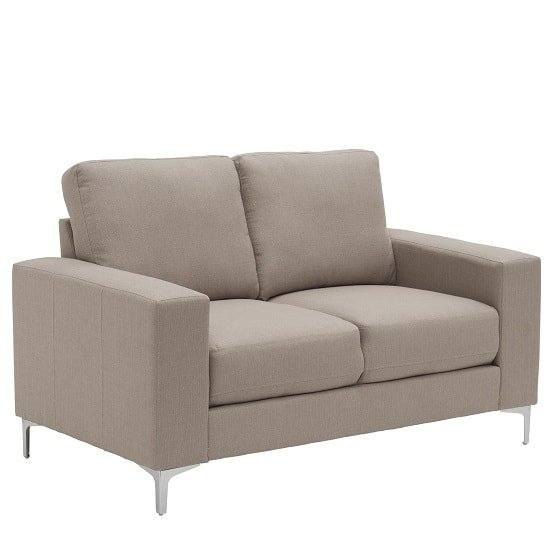 Bailey Modern 2 Seater Sofa In Oyster Fabric