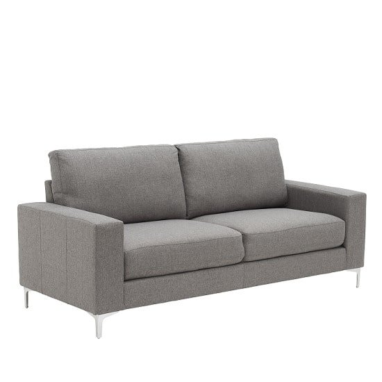 Bailey Modern 3 Seater Sofa In Grey Fabric
