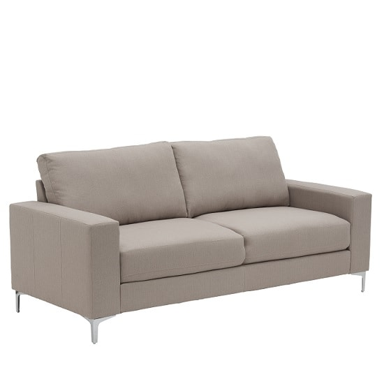 Bailey Modern 3 Seater Sofa In Oyster Fabric