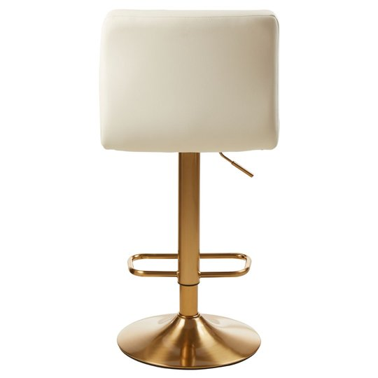Baino White Leather Bar Stool In Pair With Gold Base_4