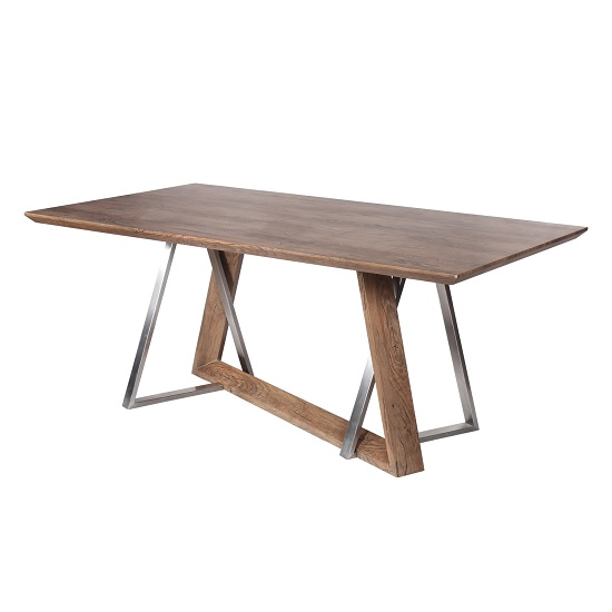 Product photograph showing Ballerina Wooden Dining Table Rectangular In Light Auburn