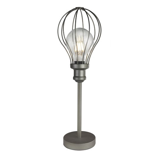 Balloon Cage 1 Light Table Lamp In Pewter