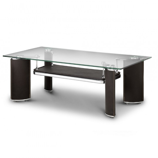 Baltic Glass Coffee Table In Rich Chocolate Brown