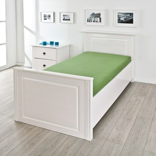 Danzig Modern Wooden Single Bed In White