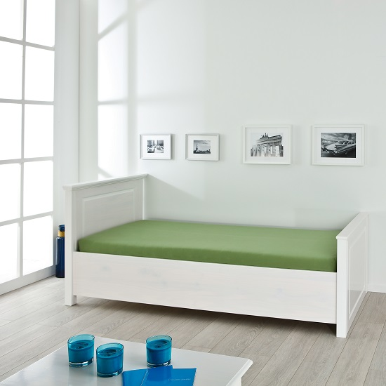 Danzig Modern Wooden Single Bed In White_3
