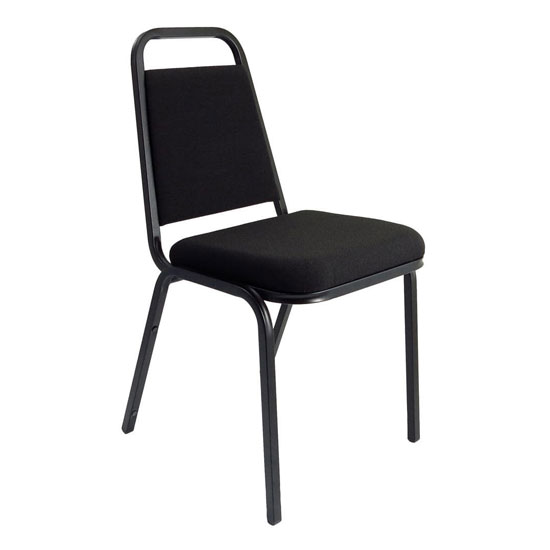 Banqueting Stacking Office Visitor Chair In Black