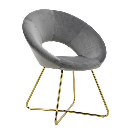 Barclay Velvet Dining Chair In Black With Gold Steel Legs_2
