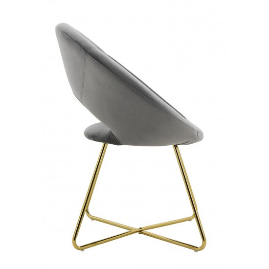 Barclay Velvet Dining Chair In Black With Gold Steel Legs_3