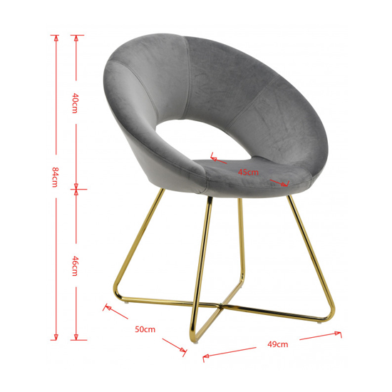 Barclay Velvet Dining Chair In Black With Gold Steel Legs_5