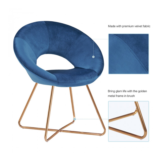 Barclay Velvet Dining Chair In Blue With Gold Steel Legs_5