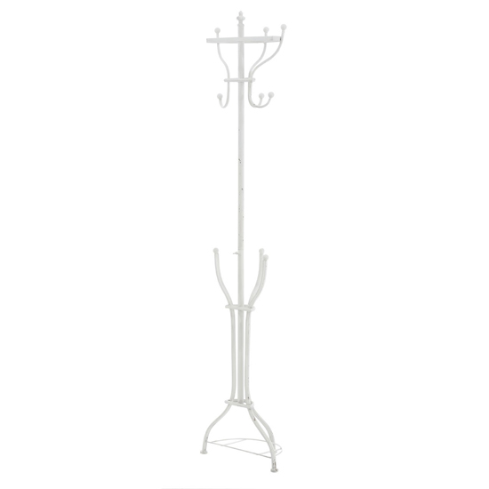 Barcon Loft Metal Coat Stand In White_2