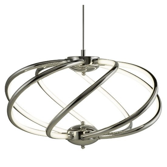 Bardot 7 Curved Arm LED Pendant In Chrome