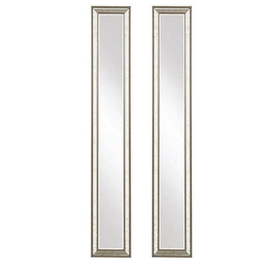 Bardot Set Of 2 Wall Mirror In Dulled Champagne Finish