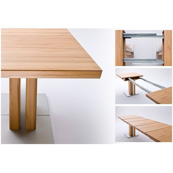 Bari Extendable Dining Table Rectangular In Solid Oak_3