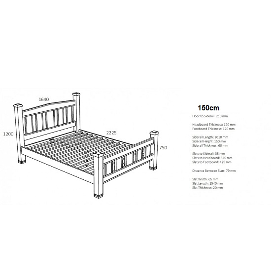 Barista Cotemporary Wooden Bed In Natural Oak_4
