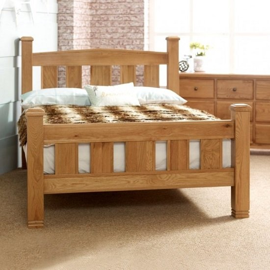 Barista Cotemporary Wooden Bed In Natural Oak_2