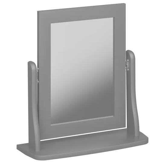 View Baroque dressing table mirror in grey wooden frame