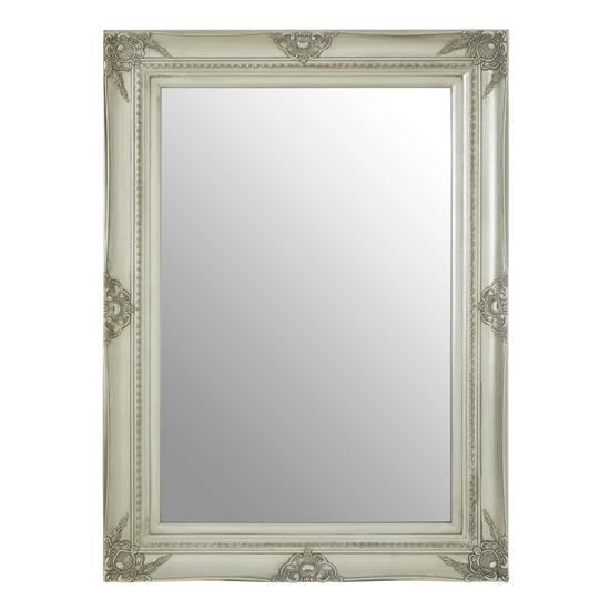 View Barstik rectangular vintage wall mirror in silver