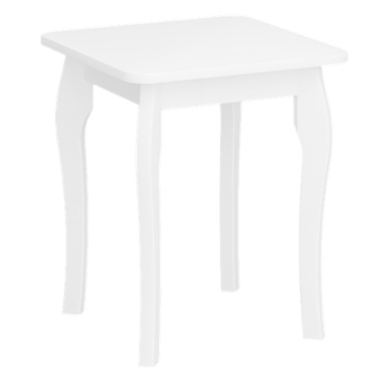 Baroque Wooden Dressing Table Stool In Pure White_1