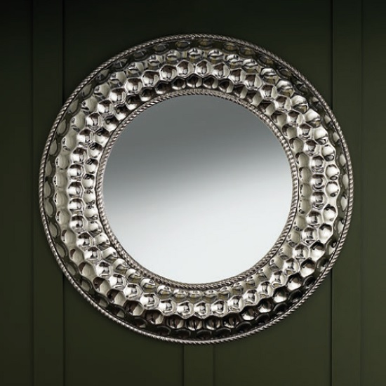 Barrett Modern Small Wall Mirror Round In Nickel