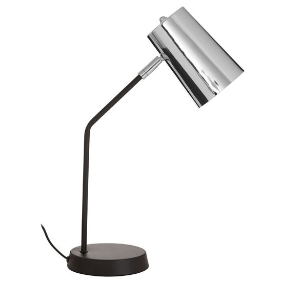 Bartino Metal Table Lamp In Chrome And Black