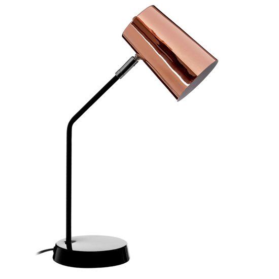 Bartino Metal Table Lamp In Copper And Black