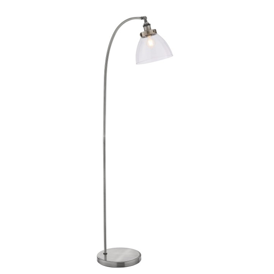 Bartley Floor Lamp In Silver