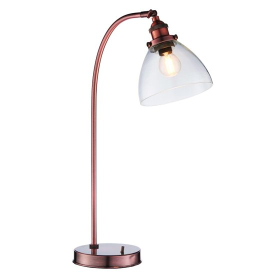 Bartley Table Lamp In Aged Copper