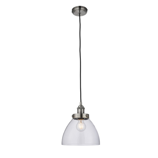 Bartley Wall Hung Pendant Light In Silver