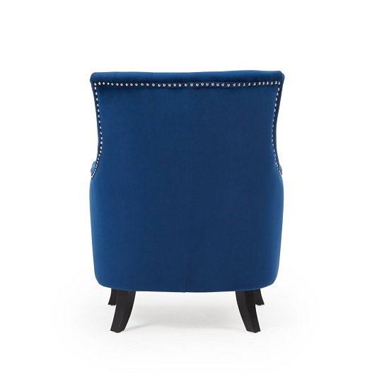 Bartow Modern Accent Chair In Blue Velvet With Black Legs_3