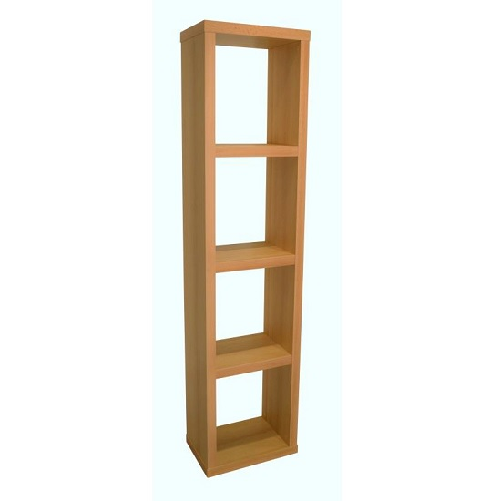 Photo of Bastian wooden bookcase in beech with 3 shelf