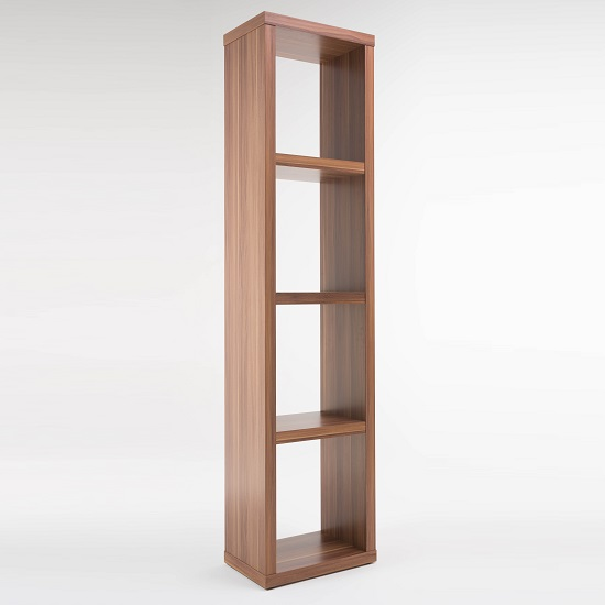 Photo of Bastian wooden bookcase in walnut with 3 shelf