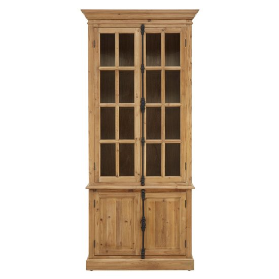 Batano Large Wooden 4 Doors Bookcase In Natural_2