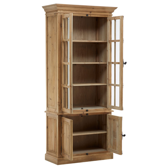 Batano Large Wooden 4 Doors Bookcase In Natural_3
