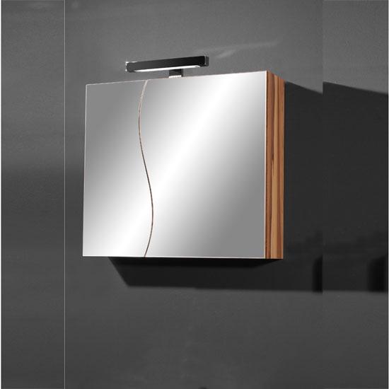 Elegance Mirrored Baltimore Walnut Bathroom Cabinet