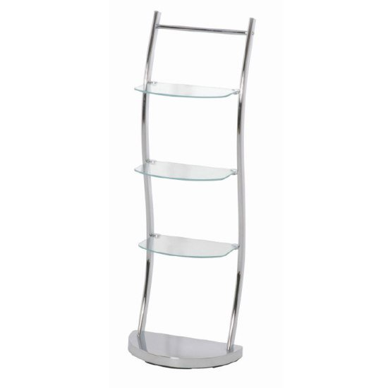 Chrome Bathroom Display Shelving Stand