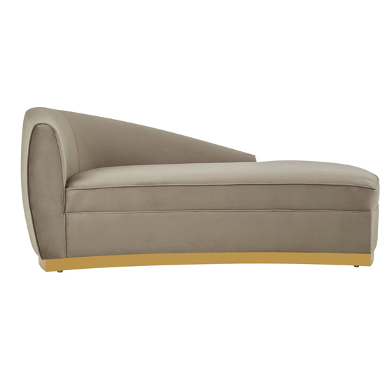 Batoz Left Arm Longue Chaise Chair In Grey