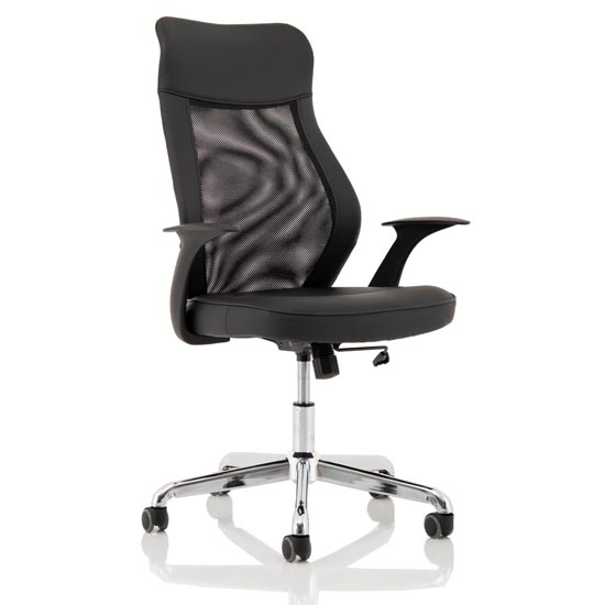 View Baye leather operator office chair in black