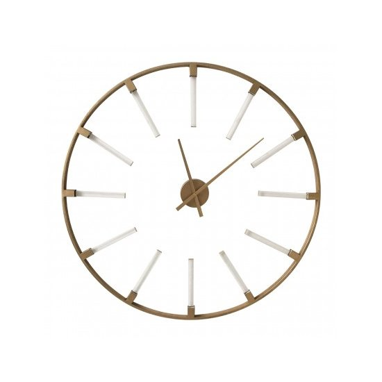 Beauly Metal Round Wall Clock In Gold