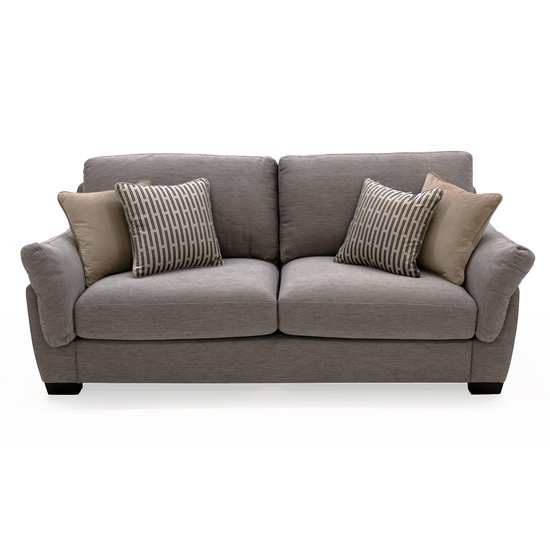 Beckett Fabric 3 Seater Sofa In Taupe
