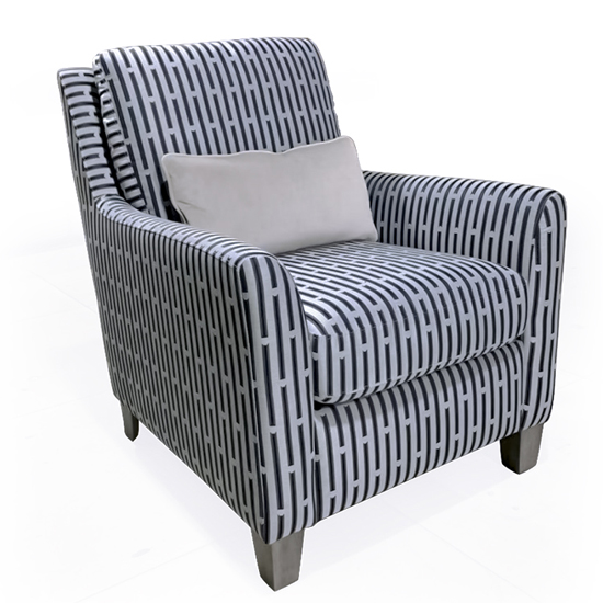 Beckett Fabric Accent Chair In Blue