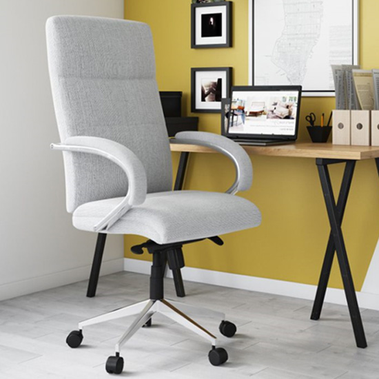 Bedford Designer Fabric Home And Office Chair In Grey
