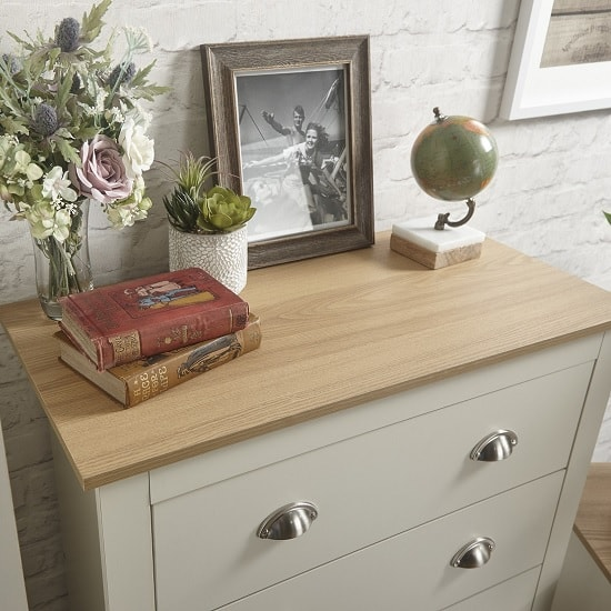 Valencia Trio Bedroom Furniture Set In Cream With Oak Top_3