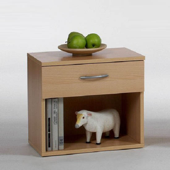 Beech bedside table shop for cheap furniture and save online for Cheap bedside cabinets